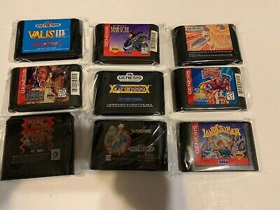 Lot of 9 RARE/UNCOMMON Sega Genesis RPG Shooter Fighting Games Valis Granada +++ Sega Genesis Rpg Games