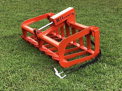 Mtl Attachments Compact Tractor-skid Steer 48 Root Grapple Bucket-free Ship-usa