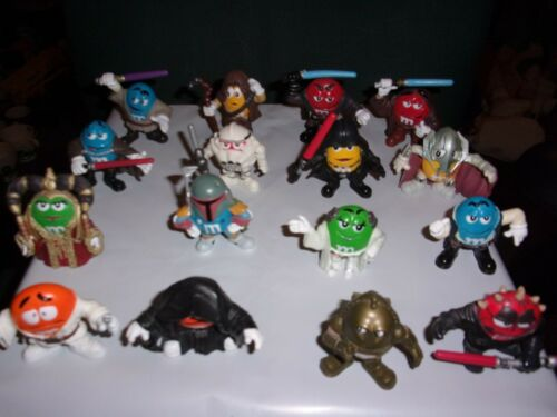 M&M - 16 STAR WARS FIGURES -  FREE SHIPPING