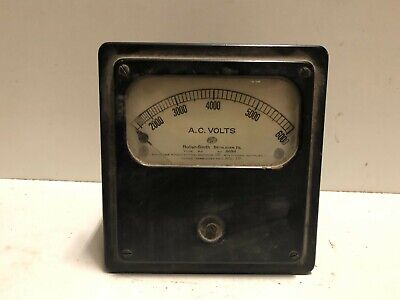 Roller-smith Panel Meter 0-6000 Ac Volts