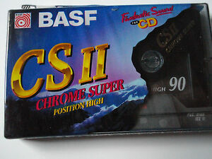 Musikkassette Neu OVP  BASF CSII Chrome Super 90 Minuten