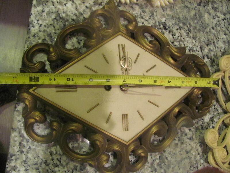 Syroco wall clock 4480, mid century