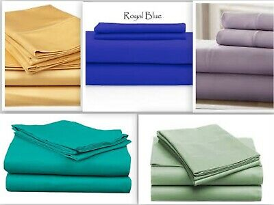 Persian Collection Flat Sheet 1800 Count Wrinkle Free Soft Solid Top Sheets - Line Sheets