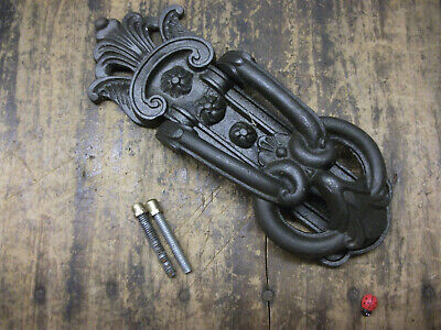 Traditional heavy Cast Iron Door Knocker - Antique Victorian copy of a kenrick