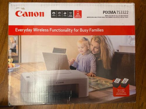 SHIPS TODAY! Canon Pixma TS3322  All In One WiFi Printer Scanner Copier With Ink