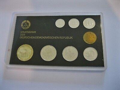 DDR  Kursmünzensatz  1986  im Hartblister