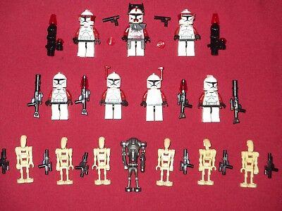LEGO Star Wars Minifigures LOT Commander Fox, 6 Clones Troopers,7 Droids Weapons