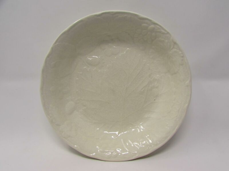 Strawberry and Grape Leaf White by Burleigh Soup Bowl Embossed Davenport b352