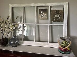 Rustic window pane picture frame