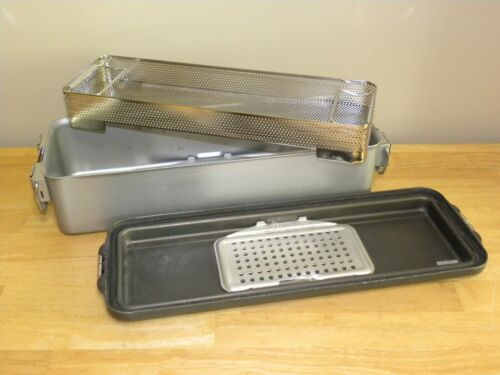 "V Mueller Genesis CD4-5B Sterilization Case with Basket 21"" x 7"" x 5-1/2"""