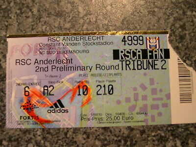 Ticket: Anderlecht - Neftchi Bakou UEFA (26-7-05)