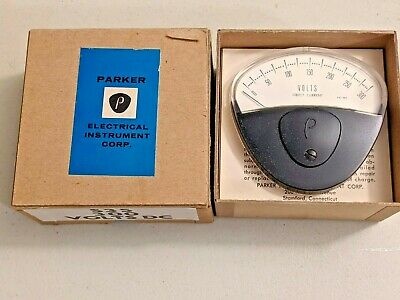 Vintage Parker 0-300 Volts Direct Current Dc S35 Panel Meter With Box