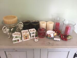 Winter/Holiday Candle Holders & Candles!  Price: Make An Offer!