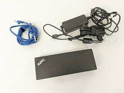 Lenovo Thinkpad Thunderbolt 3 Docking Station DBB9003L1 w/ AC & Cables - TESTED