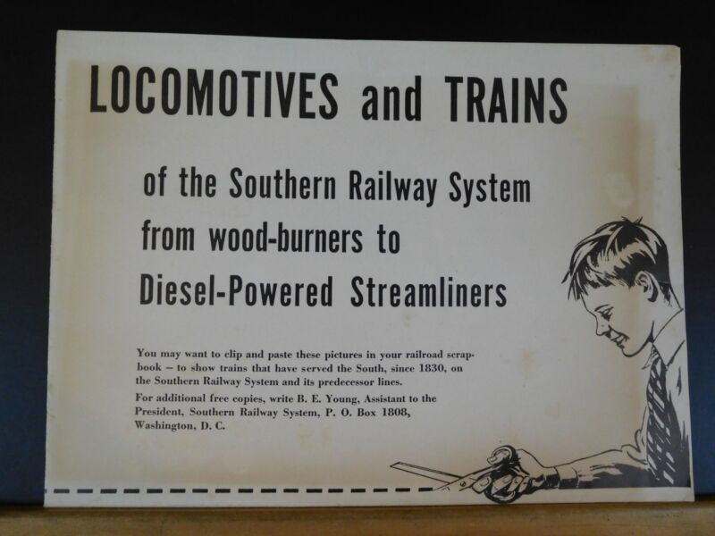 Locomotives and Trains of the Southern Railway System poster