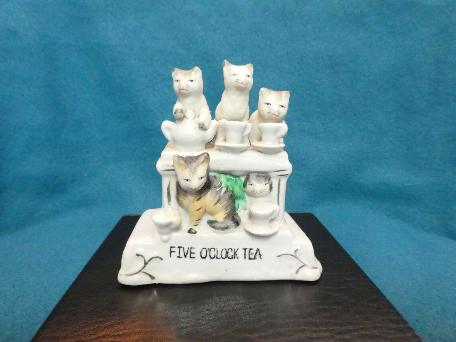 Vintage German Cats Five O clock Tea Figurine - $15.00