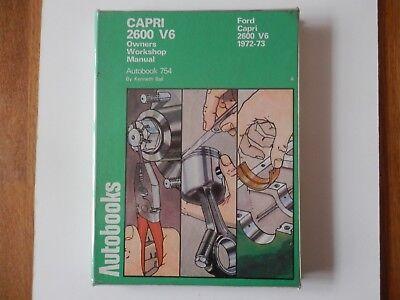 FORD CAPRI 2600 V6 1972-73 Autobooks Workshop Manual