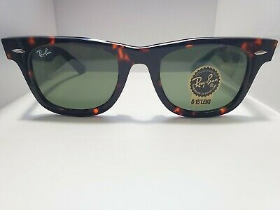 BRAND NEW Ray-Ban Original Wayfarer RB2140 902 Tortoise Frame Green Lens 50mm