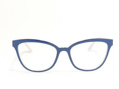 VOGUE VO5202 FULL RIM NYLON CAT EYE EYEGLASS FRAMES DARK BLUE PINK GLITTER (Nylon Eyeglass Frames)
