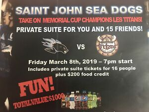 Sea Dogs Vs Titan - Private Suite for 16