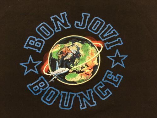 "BON JOVI ""BOUNCE WORLD TOUR 2003"" BLACK VINTAGE XL RARE! BEST T30u"