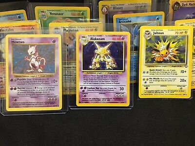 Original Pokemon 5 Cards Lot HOLO SHADOWLESS 1ST EDITION BASE,JUNGLE,FOSSIL ETC