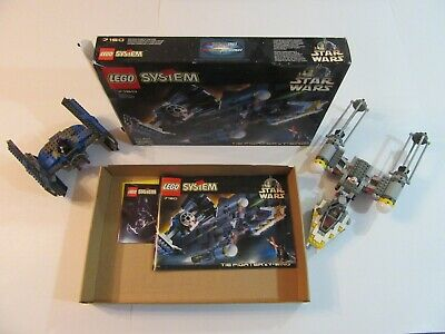 Lego Star Wars 7150 Tie Fighter & Y-Wing w Figures Retired 100% Complete w Box