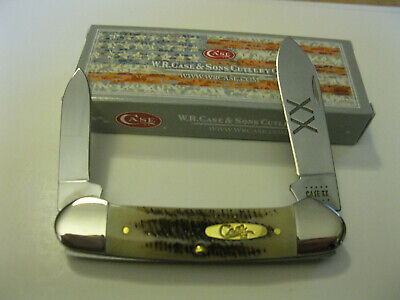 Case XX USA CANOE Pocket Knife V62131 SS VINTAGE Jig Bone Handles Made In USA