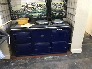 Blue Aga Oil Fired Cooker / 4 Oven