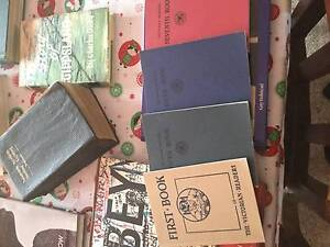 4 Vintage Victorian Readers -First, Fifth, Sixth, Seventh Book, Boolarra Latrobe Valley Preview