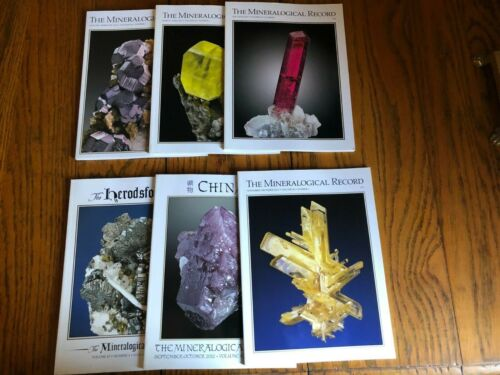 Mineralogical Record Periodical, Full Year 2012, Six Issues