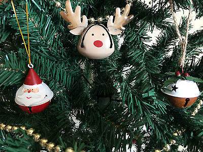 Set of 3 Ding Dong Bell Festive Baubles by Sass & Belle ()