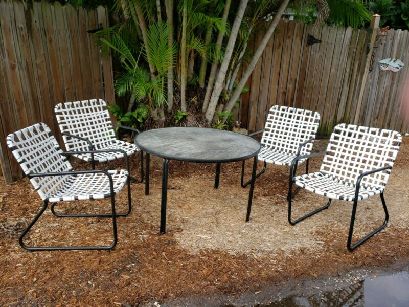 Mid Century Modern Patio Set by Brown Jordan (Tamiami) - Table and 4 Chairs