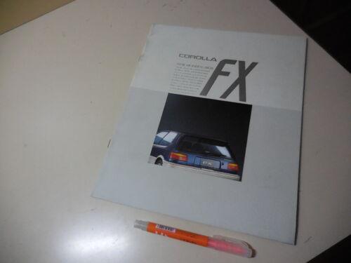 TOYOTA COROLLA FX Japanese Brochure 1987/06 AE92 AE91 4A-GE 5A-FE 5A-F 2E