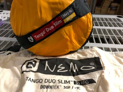 NEMO Tango Duo Slim 30-Degree 2-Person Down Backpack Comforter System Bag