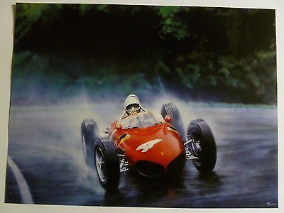 "1961 Ferrari 156 ""Sharknose"" Formula 1 Print Picture Poster RARE!! Awesome L@@K"