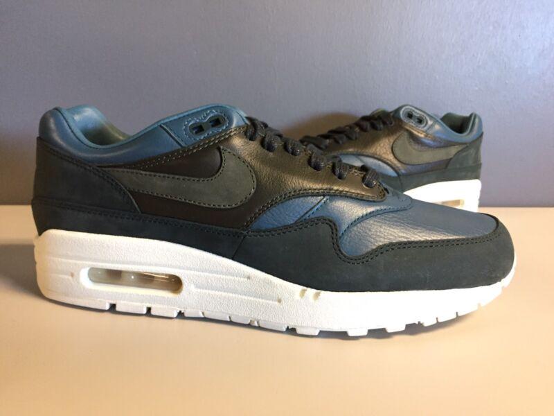 Nike Air Max 1 Pinnacle Running Shoes Dark Grey Black Mens 859554-004 Size 9.5
