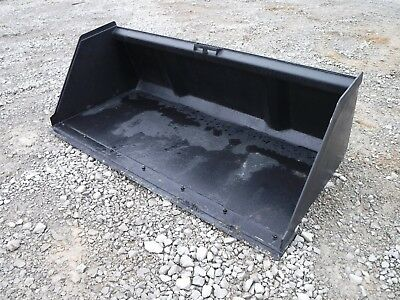 Bobcat Skid Steer Attachment 84 Snow Mulch Litter Smooth Bucket Bolt On Edge
