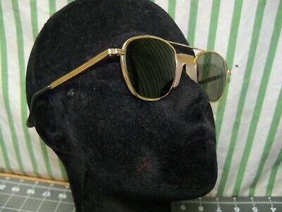 New Old Stock Vtg 60s Sellstrom Safety Sun Glasses Gray Welding Usa 750 Gold