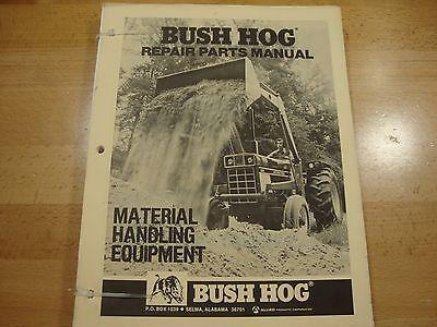 Bush Hog Material Handling Equipment Parts Catalog Manual 1979 1981 Loader Auger