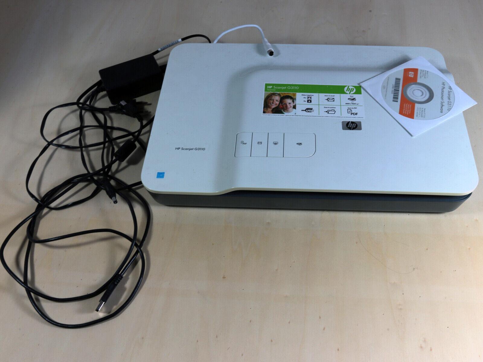 HP ScanJet G3110 Flachbettscanner. Diascanner, Negativscanner. Hewlett Packard.