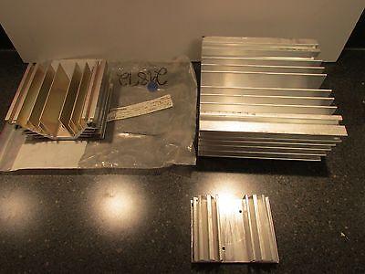 Letourneau Heat Sink Lot Of 3 Various Sizes Part S 4074145 4172977 4105496