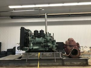 600HP Twin Detroit 6-71 Diesel engine Water Transfer pump