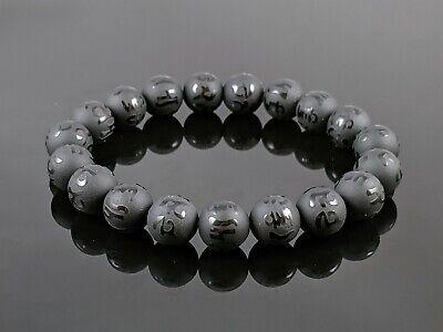 Natural Tibetan Matte Black Obsidian Round Stone Bead Stretch Bracelet Obsidian Bead Bracelet