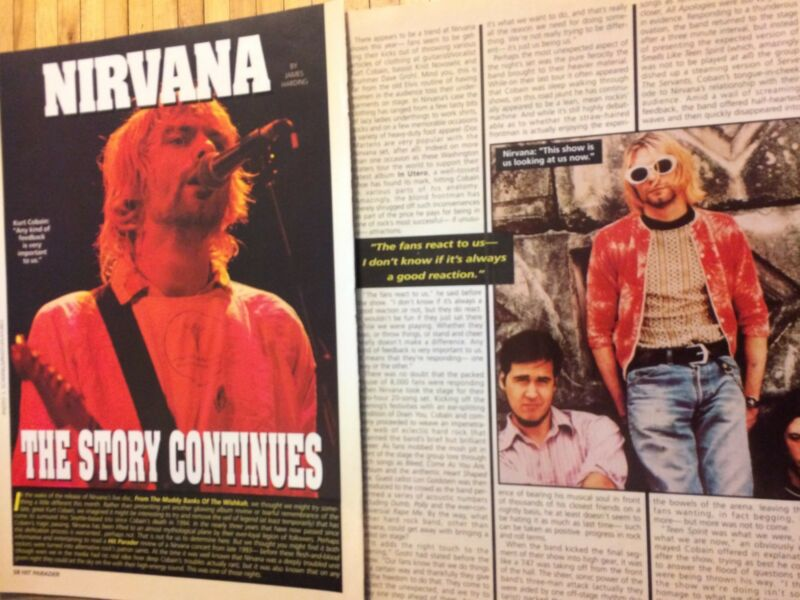 Nirvana, Two Page Vintage Clipping