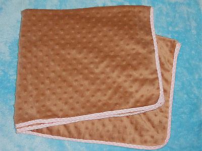 Sleeping Partners Pink Blanket (Sleeping Partners NYC Tan Brown Bumpy Dot Security BLanket Pink Gingham)