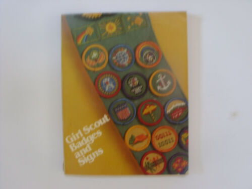 Girl Scout Badges And Signs Book 1980 Vintage