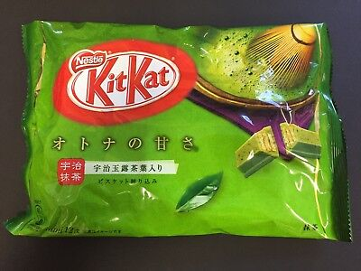 Japanese Kit Kat Uji Matcha Green Tea Ocha KitKat Chocolates 12 Mini Bar JAPAN