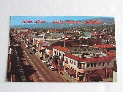 G514 Postcard CA California Santa Barbara State Street St scene