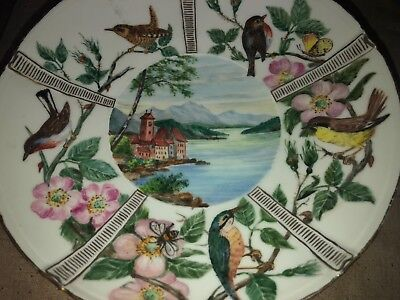 Beautiful Aesthetic Style Bing & Grondahl Tazza With Birds,Branches  & Lakes Etc